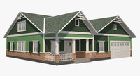 3D model house traditional
