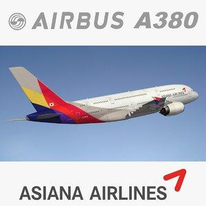 3D asiana a380 380