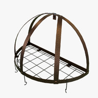 dome pot rack polys 3D