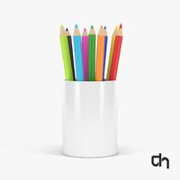 3D colored pencils model