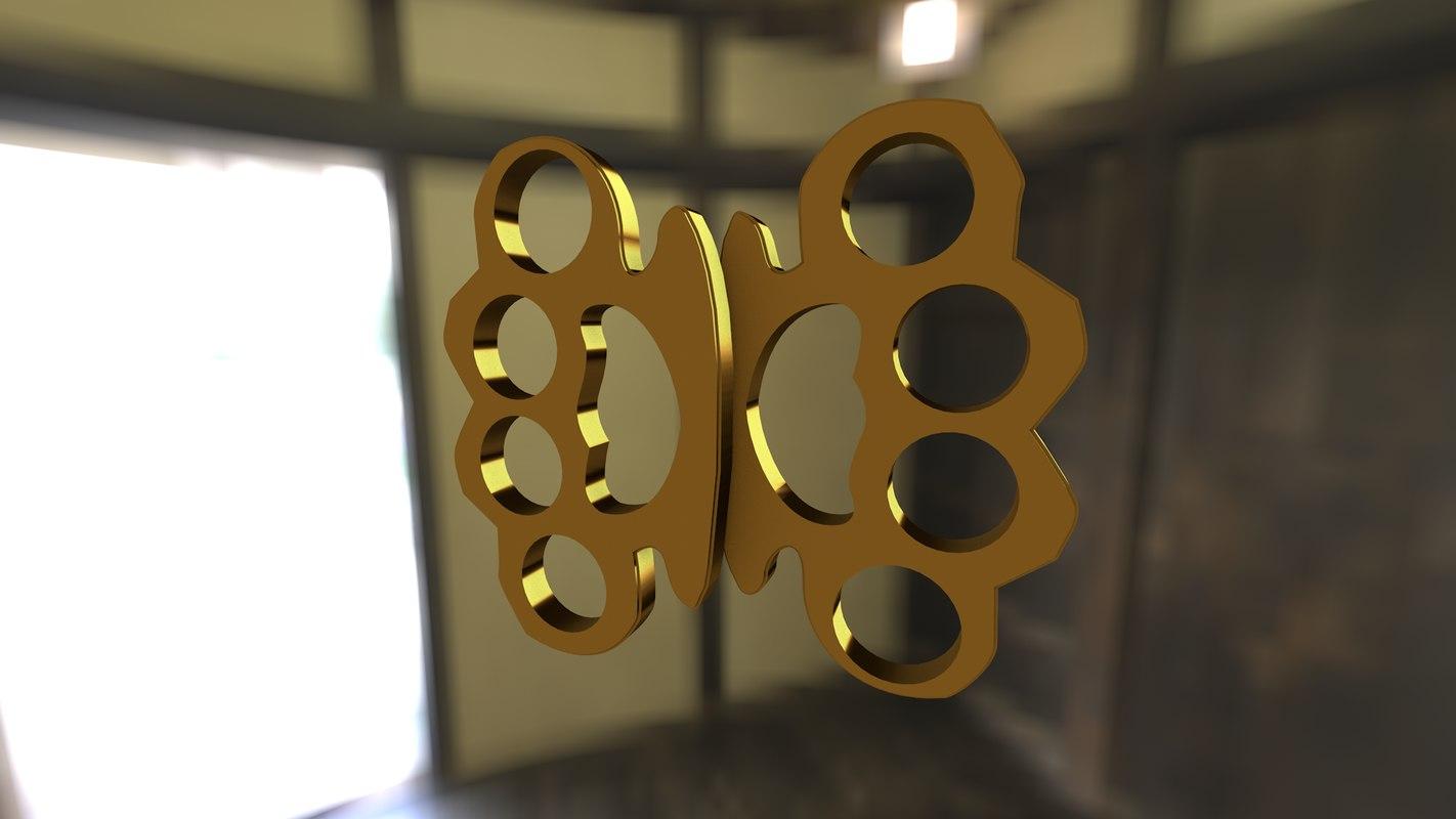 3D brass nuckles