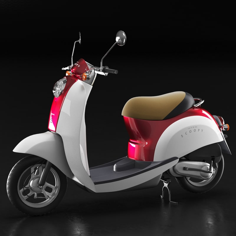 3D model moped crea scoopy