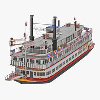 wheeled steamboat 3D model