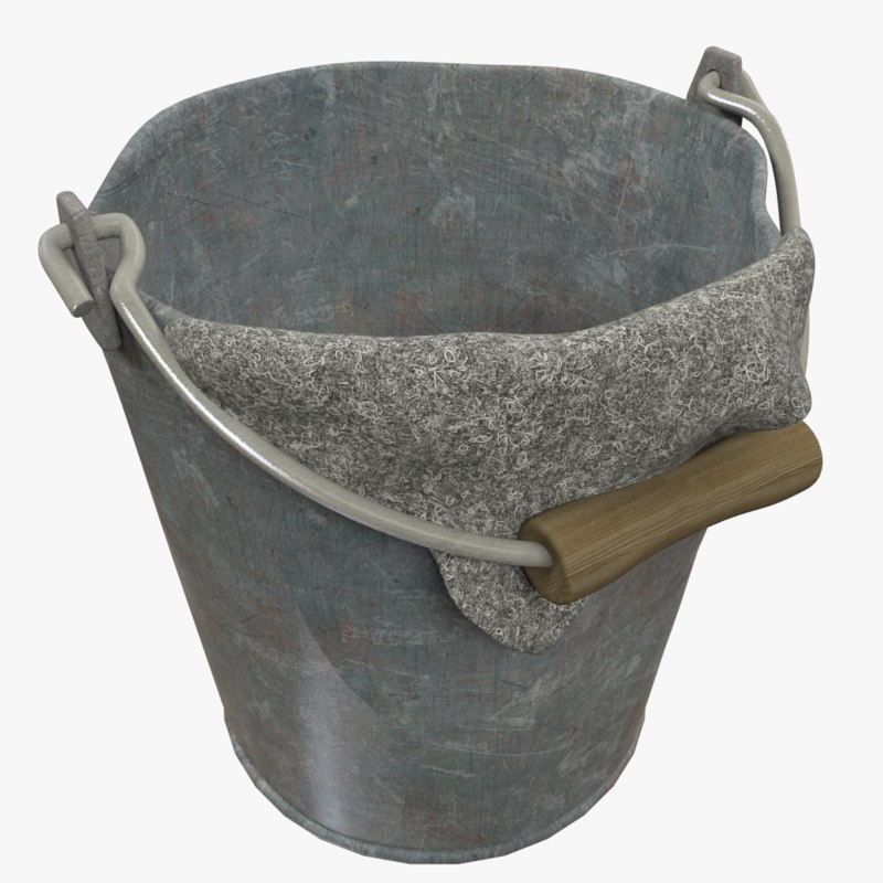 old bucket rag 3D model