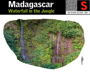 3D waterfall jungle