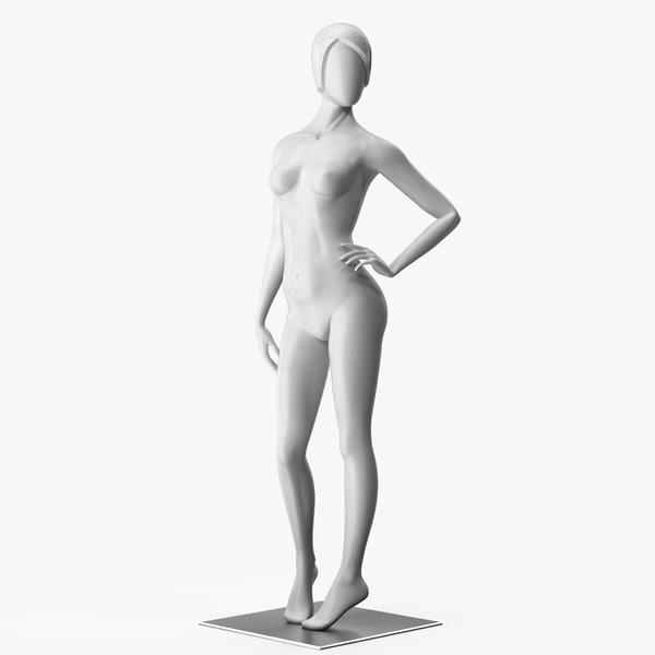 woman mannequin rig 3D model