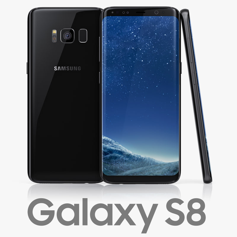 samsung galaxy s8 black 3D model