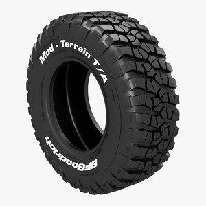 tire bfgoodrich mud 3D model