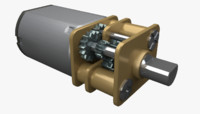 electric motor reducer 3D model