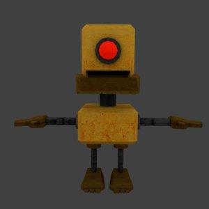 3D robot cartoon