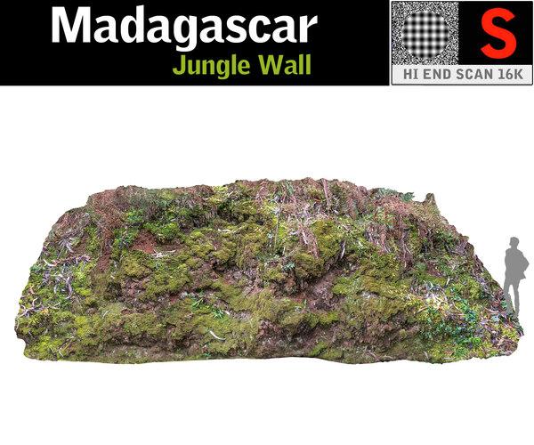 3D jungle wall 16k model