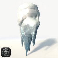 floating island frozen tall 3D