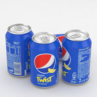 3D model beverage pepsi twist 330ml