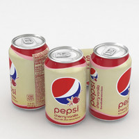 beverage pepsi cherry vanilla 3D model