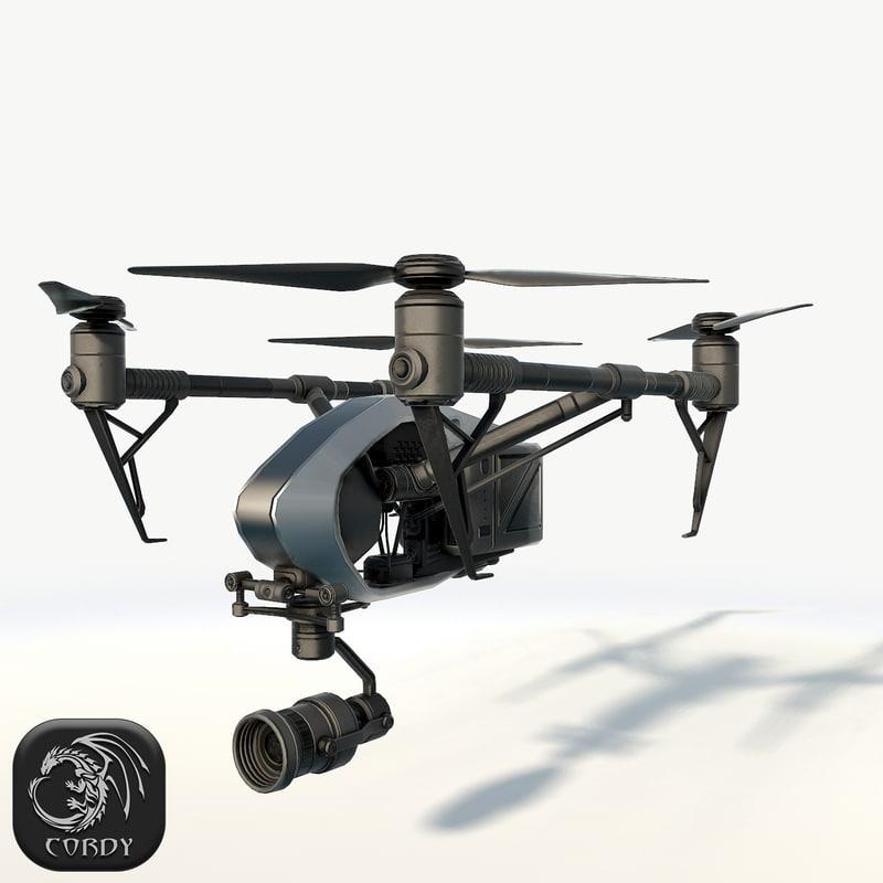 3D quadcopter inspire 2 0