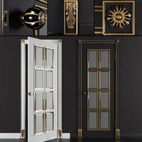 bergamo door gold black 3D