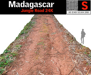 madagascar jungle road 24k 3D model