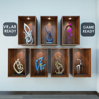 Decor Props Items  VR_AR_Game Ready