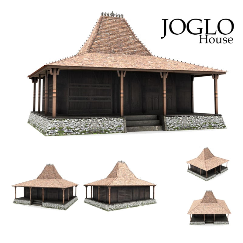 3D joglo house