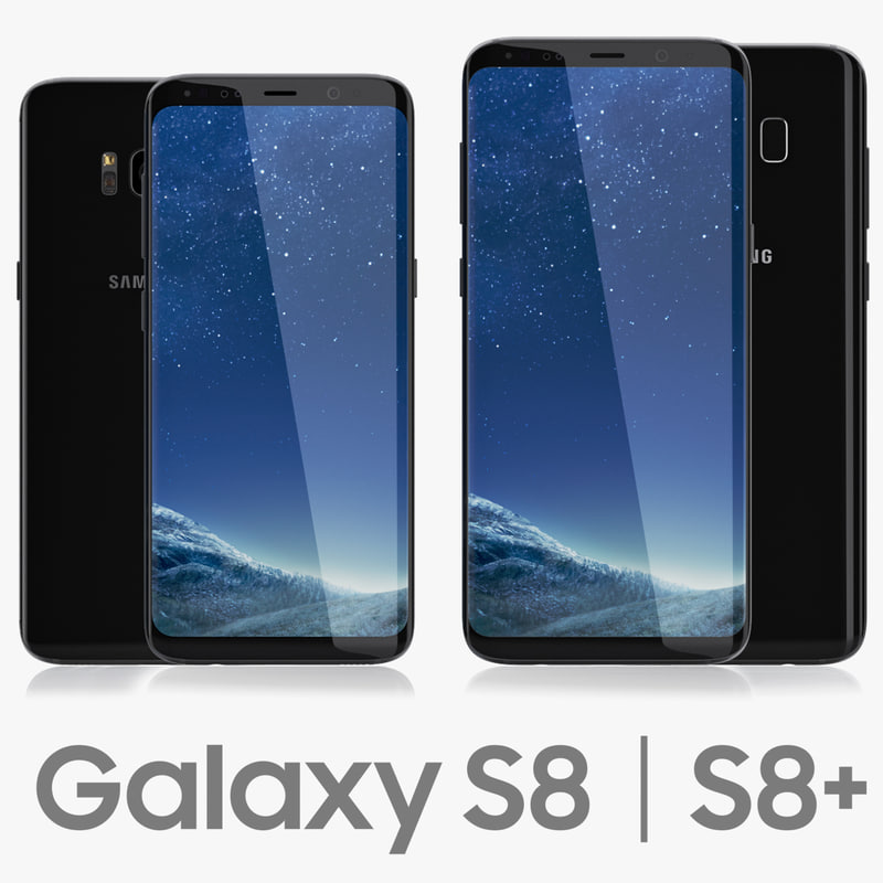3D model samsung galaxy s8 black
