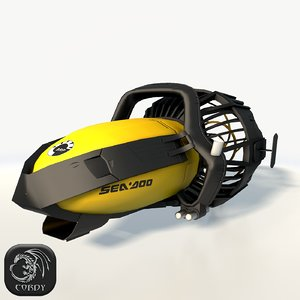 3D sea-doo underwater model