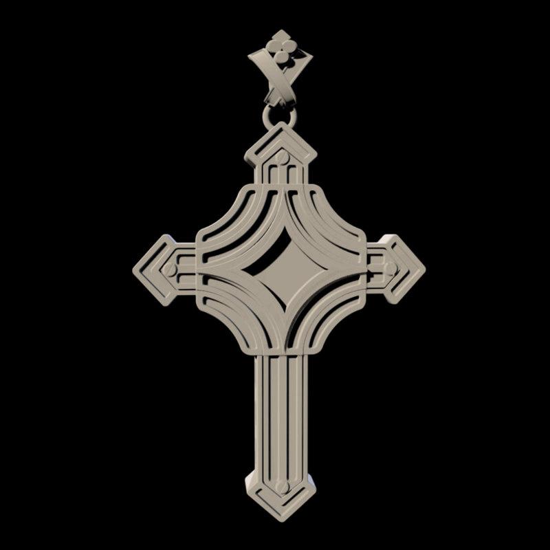 unique cross 3D