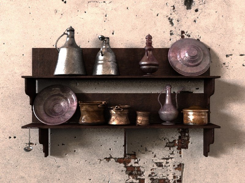 3D old kitchenware