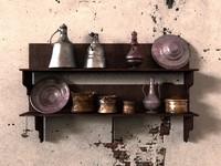 3D old kitchenware