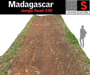 madagascar jungle road 24k 3D model