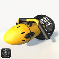 3D yellow underwater model