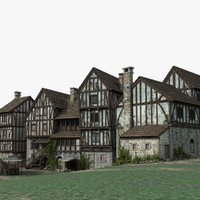 medieval town 3D model