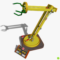 3D model robotic toy arm rigged