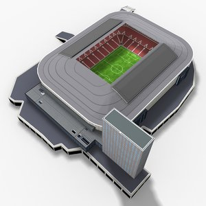 friends arena 3D model