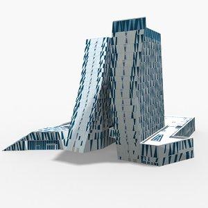 3D hotel bella sky copenhagen model