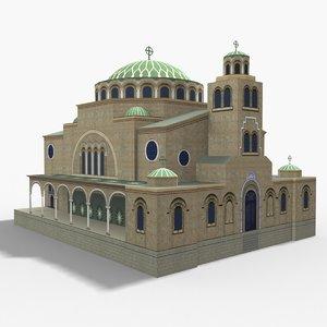st nedelya church 3D model