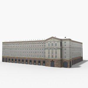 3D council ministers building model