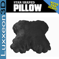 3D star shaped pillow model
