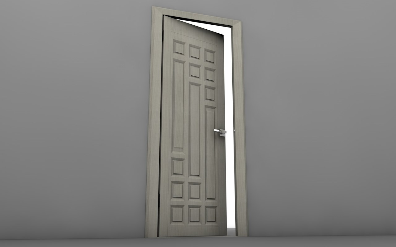 3D door interior realistic