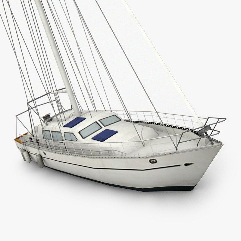 sailboat ready games 3D model