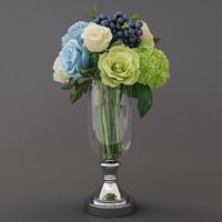 3D flowers bouquet model