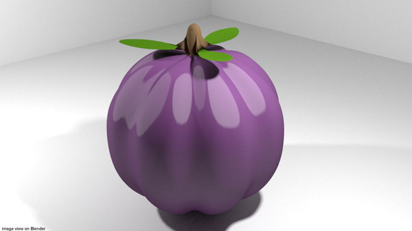 fruit mango mangosteen 3D model