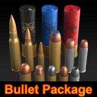 Bullet 3D Model Package