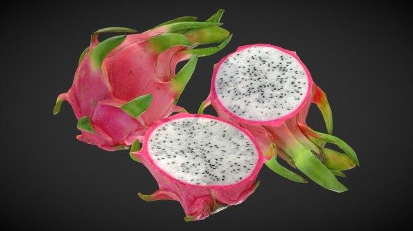 3D 4k fruit dragon pitaya