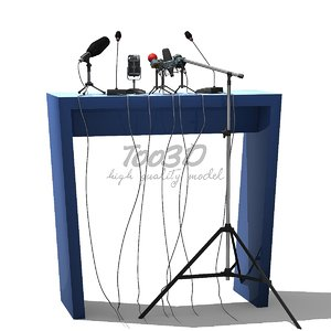 3D model microphones