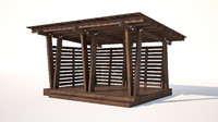 3D wooden alcove
