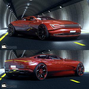 vexant car concept sedan 3D model