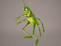 locust grasshopper grass hopper 3D model