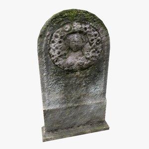 tombstone tomb 3D
