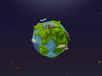 Cartoon Low Poly Earth Planet