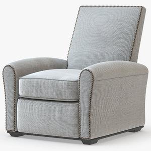 3D model contemporary club chair